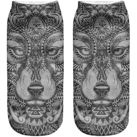 Tribal Animal Socks