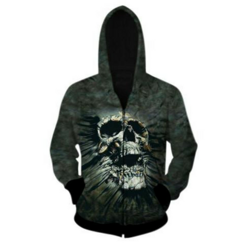 Super Skull Hooded Jacket