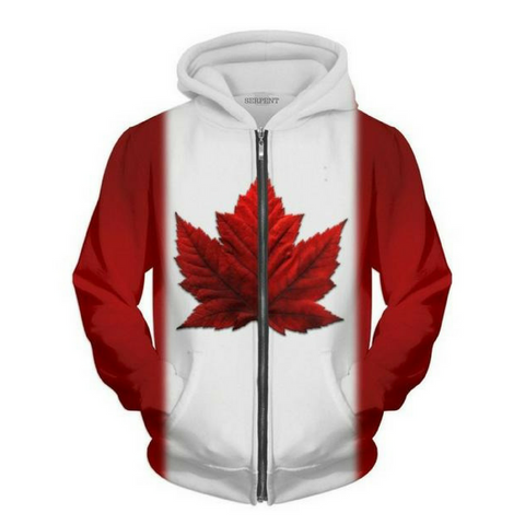 Canada Flag Hooded Jacket