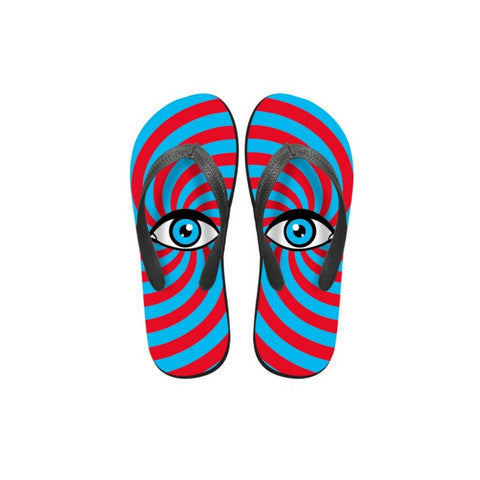 Summer Flip Flops Red and Blue Flip Flops