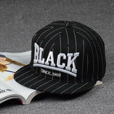 Panels Cap Hip Hop black Snapback