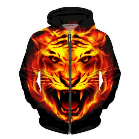 Tiger Fire Hooded Jacket