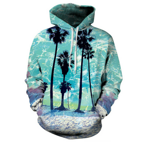Beach And Coconut Tree Hoodie
