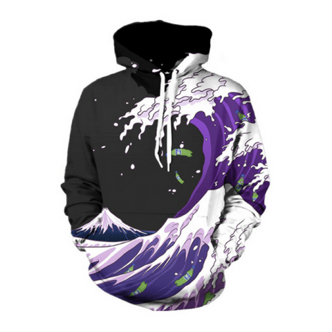 Waves of Purple Sprite Hoodie