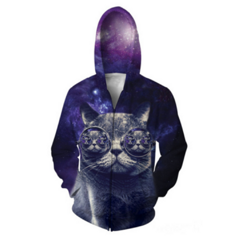 Hipster Cat 2.0 Hooded Jacket