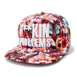 Colorful Flowers Red Snapback