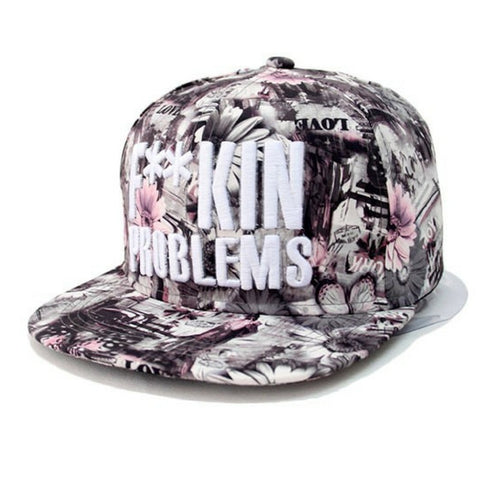 Colorful Flowers Grey Snapback
