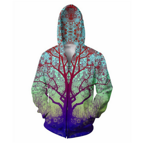 Red Star Trip Tree Hooded Jacket