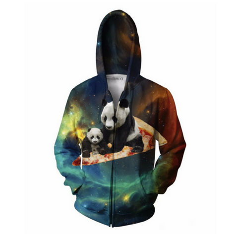 Space Pizza Panda Hooded Jacket