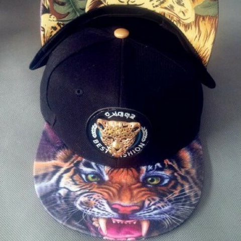 leopard with tiger Snapback