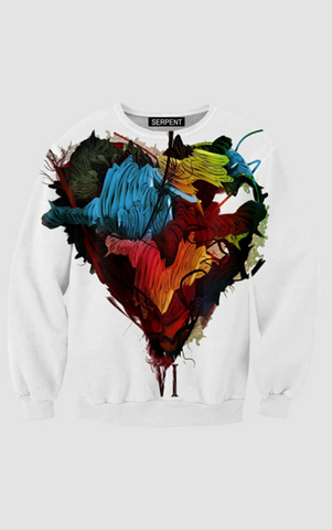 Colourful Heart Sweatshirt