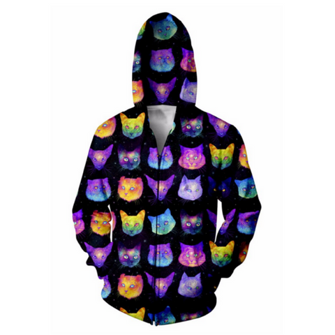 Galactic Cats Hooded Jacket