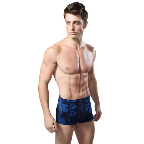Navy Blue Hawaii Print Boxers