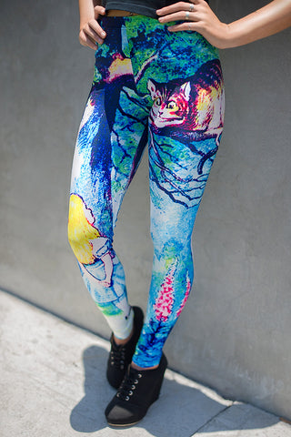 Grinning Cat Printed Leggings