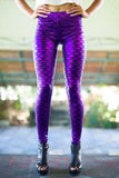 Purple Dragon Scale Printed Leggings
