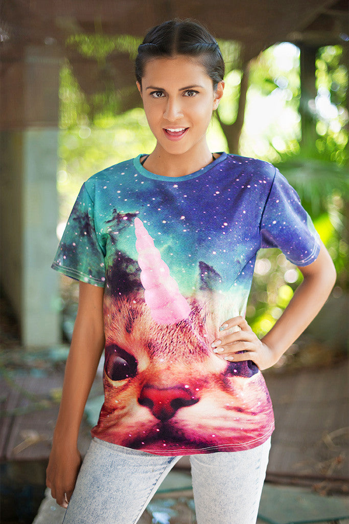 Unicorn Space Cat T-Shirt