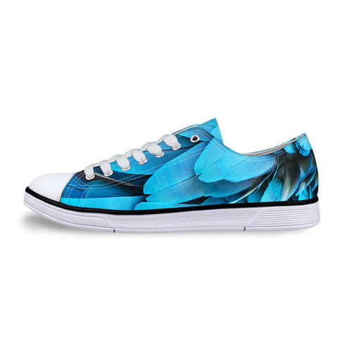 Women's Blue Feather Shoes