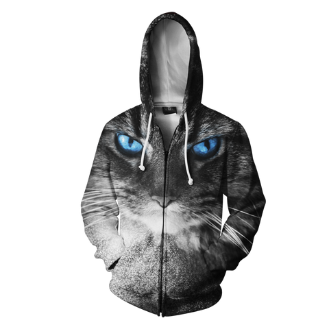 Blue Eyed Cat Hooded Jacket