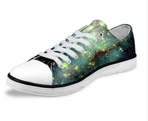Women's Green Soft Canvas Walking Shoes