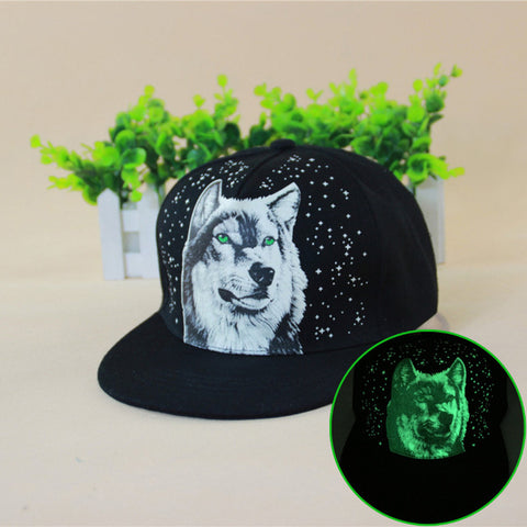 Wolf Glow In The Dark Snapback