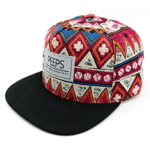 Peeps Red Tribal Snapback