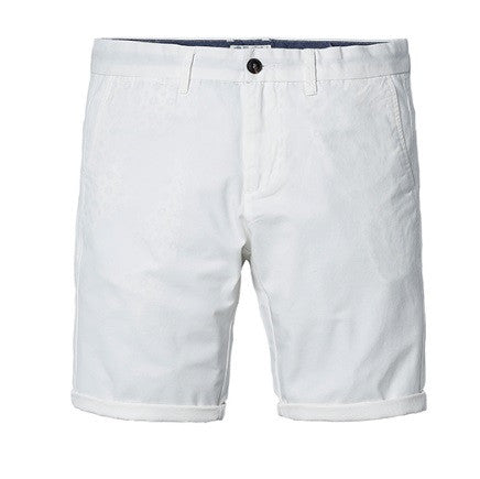 Slim Fit Short White Pants