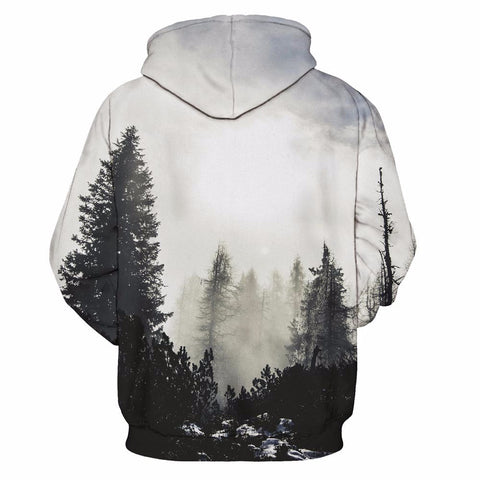 Winter Forest Trees  Hoodie