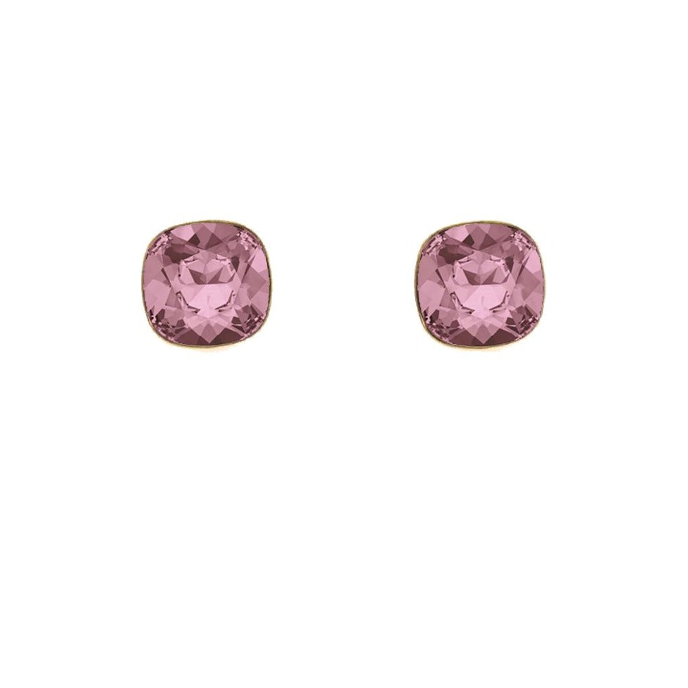 "Swarovski Elements nagliņu auskari ""Antique Pink"""