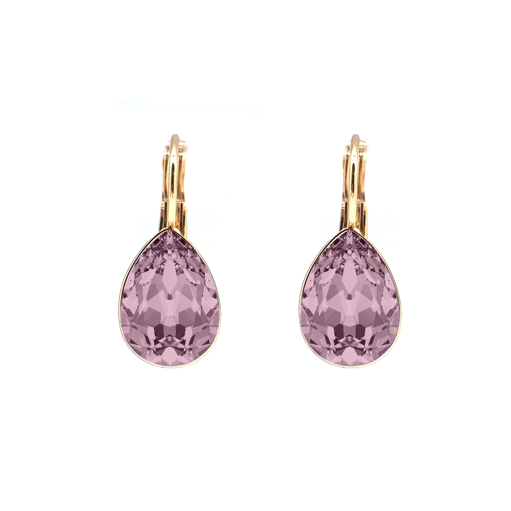 Swarovski Elements kristāla ANTIQUE PINK lāsīšu auskari