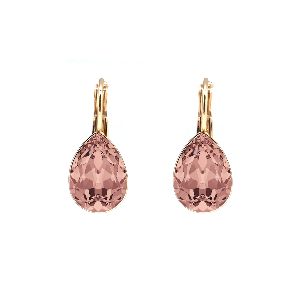 Swarovski Elements kristāla BLUSH ROSE lāsīšu auskari