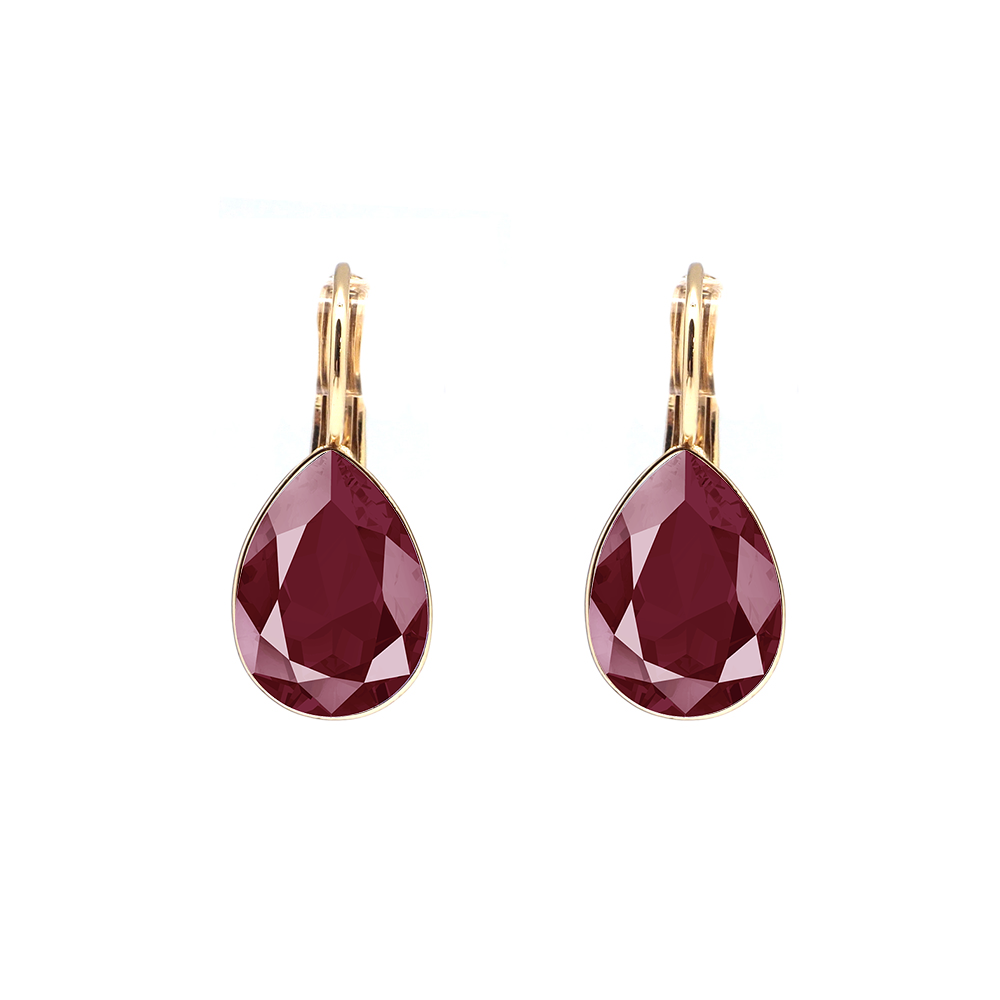 Swarovski Elements kristāla DARK RED lāsīšu auskari