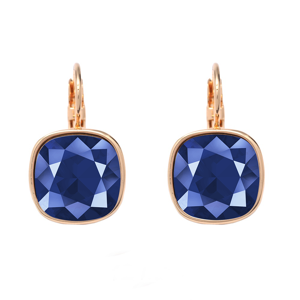 "Swarovski Elements ""Royal Blue"" kristālu auskari"
