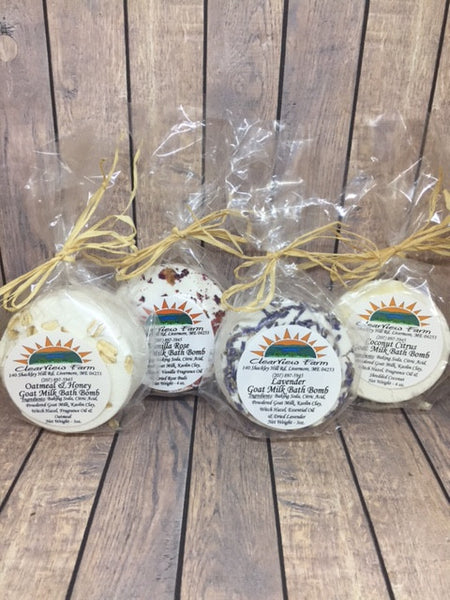 Goat Milk Bath Bombs