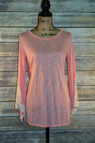Made in USA Lace Sleeve Tunic