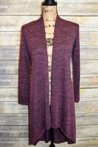 *SALE* Purple/Gray Long Cardigan