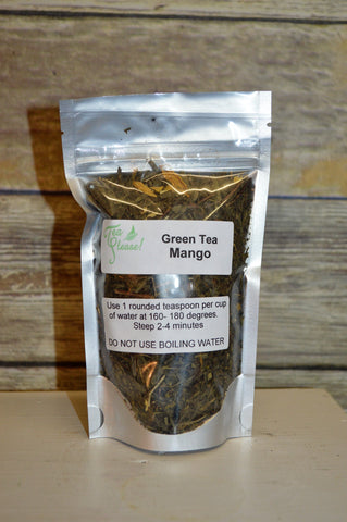 Tea Please!  Green Tea Mango- Loose Leaf Tea