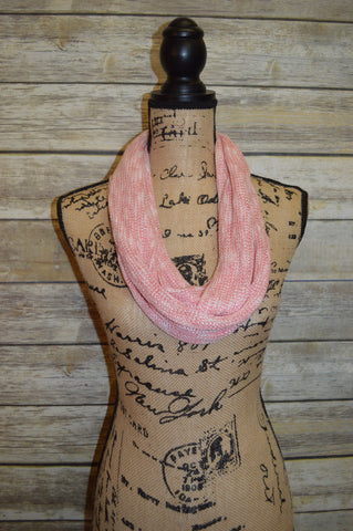 Infinity Scarf- Coral Knit