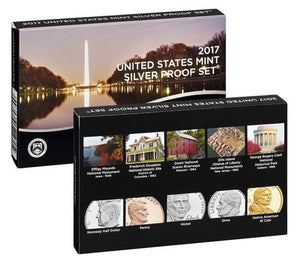 2017 S Proof Set 10 coin Silver Proof Set OGP box & COA