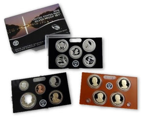 2015 S US Mint 90% SILVER Proof Set 14 Coins Complete with Box & COA