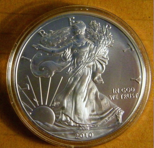 American Silver Eagle BU (dates to vary) 1 oz pure silver