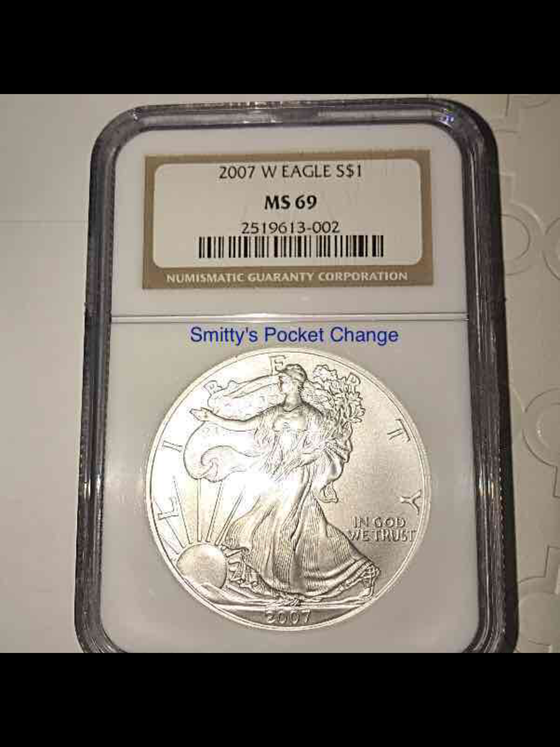 2007W American Silver Eagle Burnished