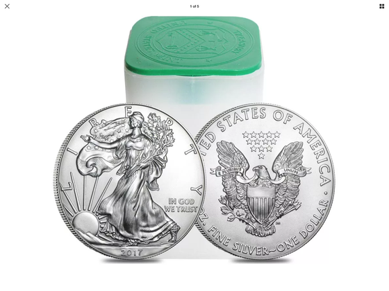 2017 American Silver Eagle BU in Stock tubes of 20