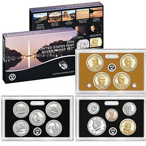 2014 S Proof Set 13 coin Silver Proof Set OGP box & COA Proof Mint State