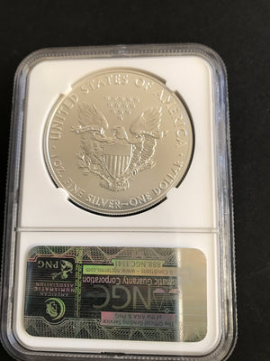 2011S American Silver Eagle NGC ER MS70