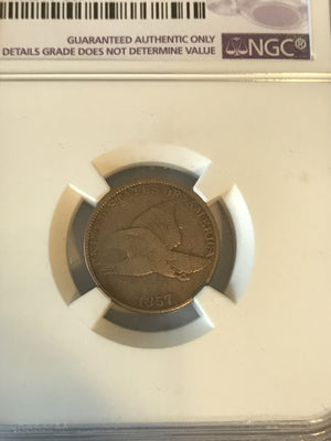 1857 Flying Eagle 1cent fine details NGC