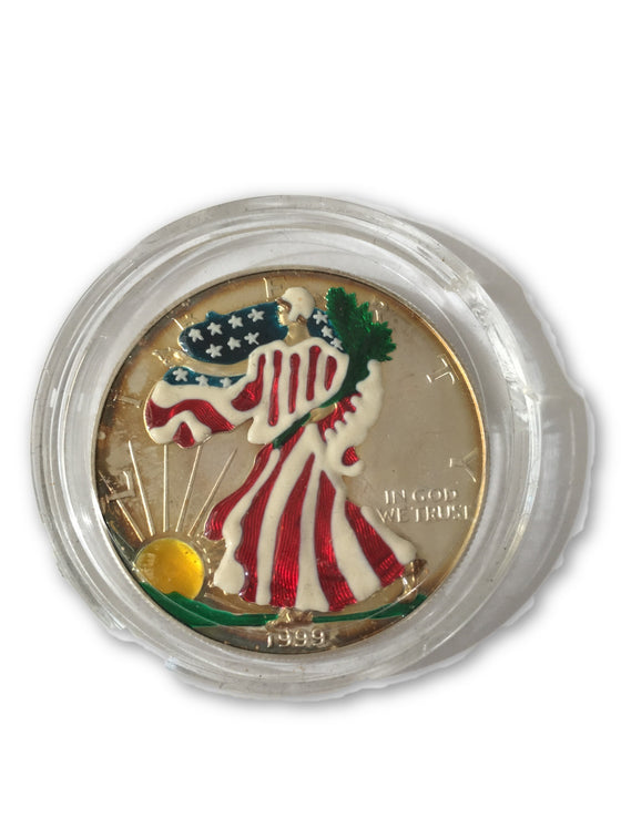 1999 American Silver Eagle colorized 1oz