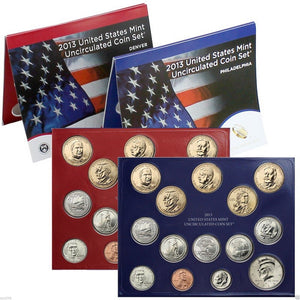 2013 US Mint Uncirculated Coin Set® (U13) D & P NIB