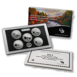 2013 US America the Beautiful (ATB) Quarters Silver Proof Set