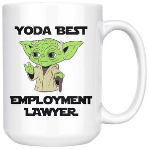 Yoda Best Employment Lawyer 15oz Mug - TL