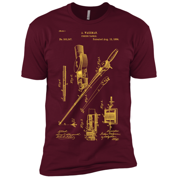 Fishing Tackle Patent 1884 Premium Short Sleeve T-Shirt